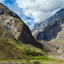 Himalayas mountains and Himalayan landscape in Lahaul valley, India