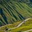 Road in Himalayas. Rohtang La pass, Lahaul valley