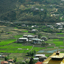 Bhutan-Paro plain covered with green fields