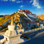 Buddhist Stupa and Potala palace in Tibet