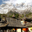 A village in the Sangla valley. The temple is bhuddist.