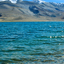 Tso Moriri lake in the foreground in Ladakh, India
