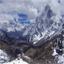 After Cho La pass. At right, Cholatse