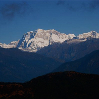 Gangkhar Puensum mountain in Bhutan