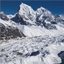 Beautiful view of the Himalayas from Gokyo Ri.
