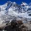 View of the Himalayas (Lingtren, Khumbutse)
