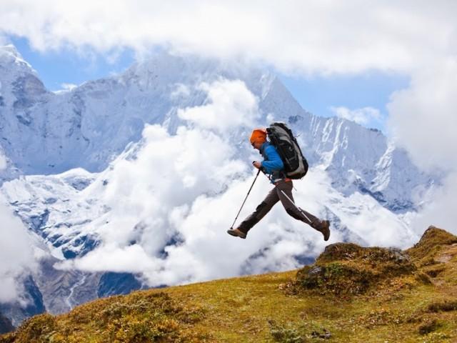 Hiking in Himalaya Mountain