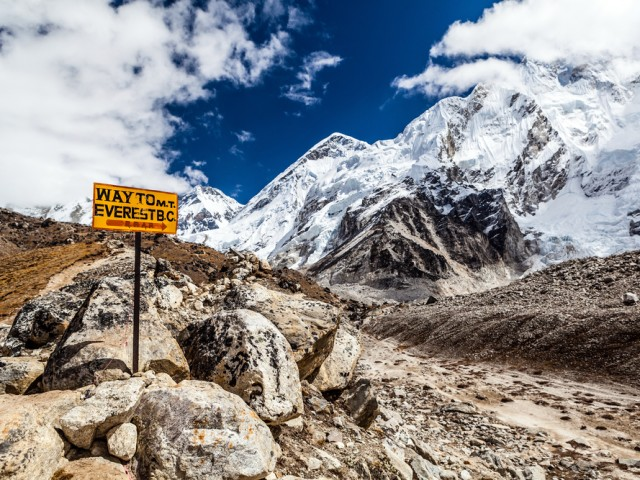 Signpost Everest Base Camp