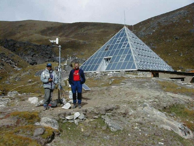 The Everest Pyramid Station near Lobuche