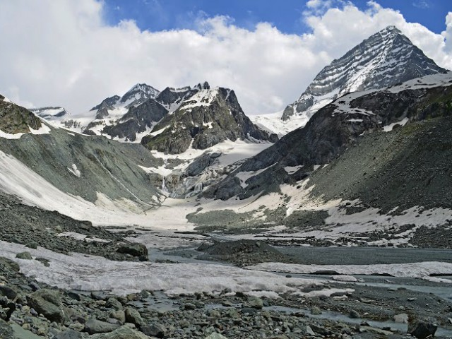 Kolahoi Peak and Glacier