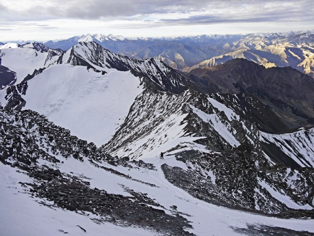 Approaching the Summit of Stok Kangri