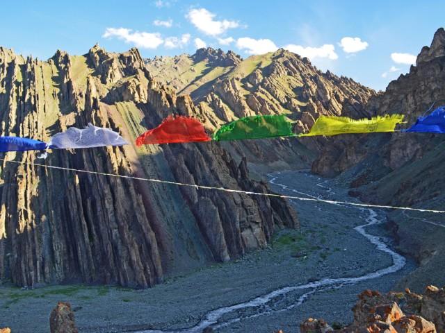 Prayer Flags Near Chang Ma