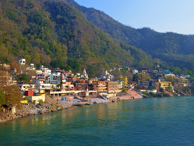 Rishikesh on the banks of the Ganges