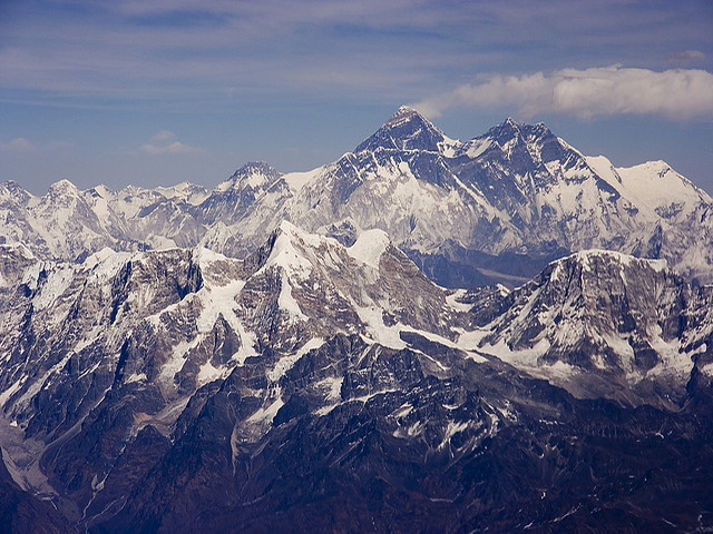 Mount Everest With Banner Cloud