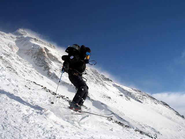 Skiing on Everest