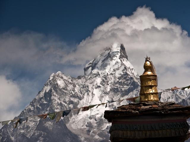 View of Ama Dablam on Everest Trek