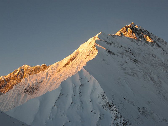 Lhotse Shar in the Foreground & Everest