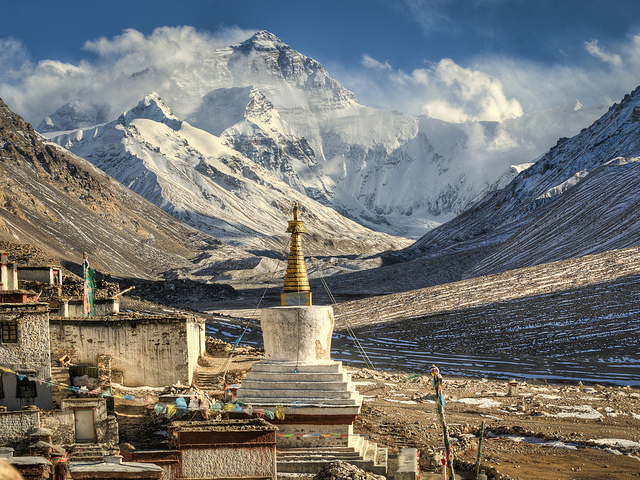 Everest and Rongbuk Monastery