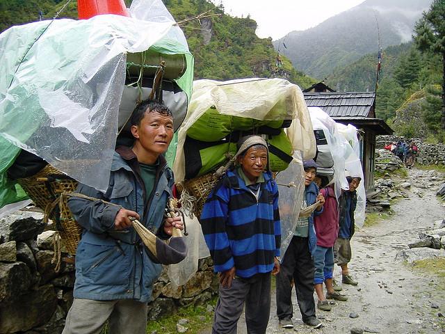 – Nepali Porters on Way to Everest Base Camp