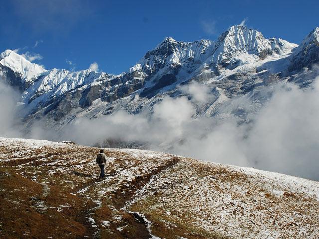View from Dzongri on Goecha La Trek