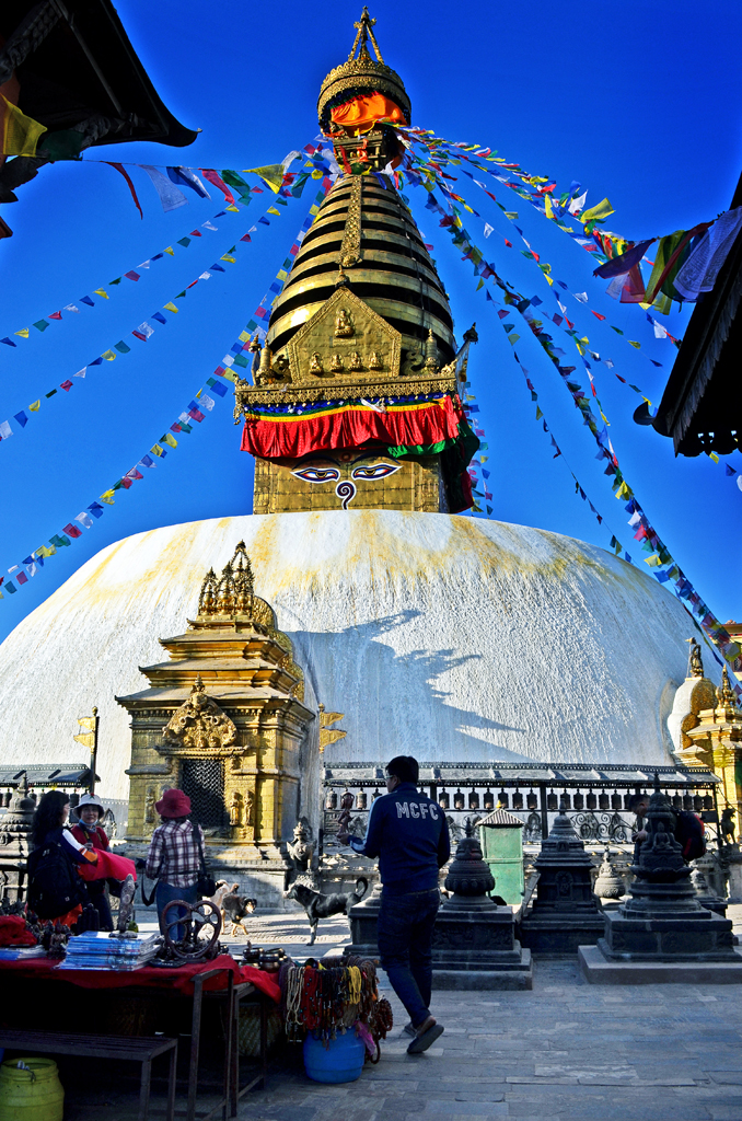 Giant Stupa in Monkey Temple