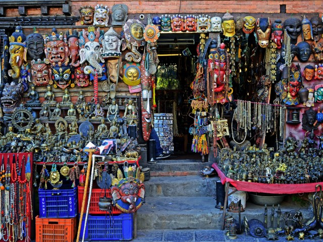 Handicrafts in Monkey Temple