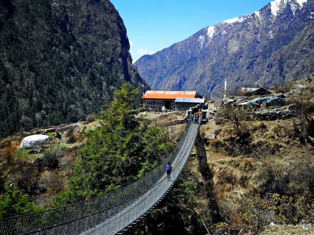 Suspension Bridge and HillTop Guesthouse Chamki