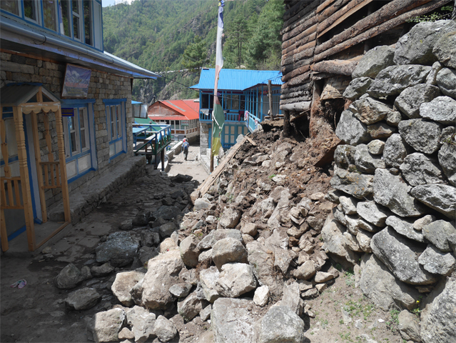 Damage in Jorsale after the Second Earthquake (Taken by Linley Stevens)