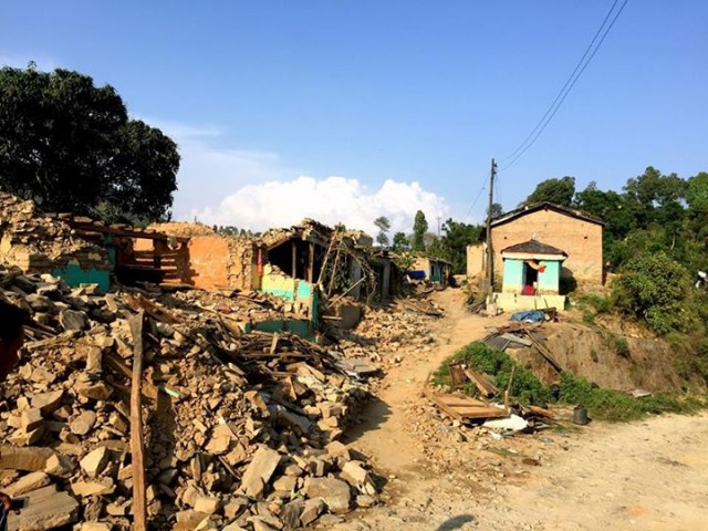 Extensive Destruction in Gorkha (Curtsey of Vlatka)