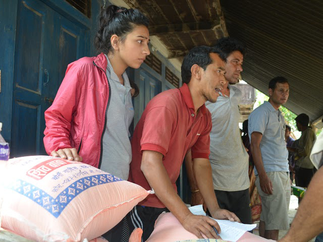Himalayanwonders Team Managing Rice Distribution