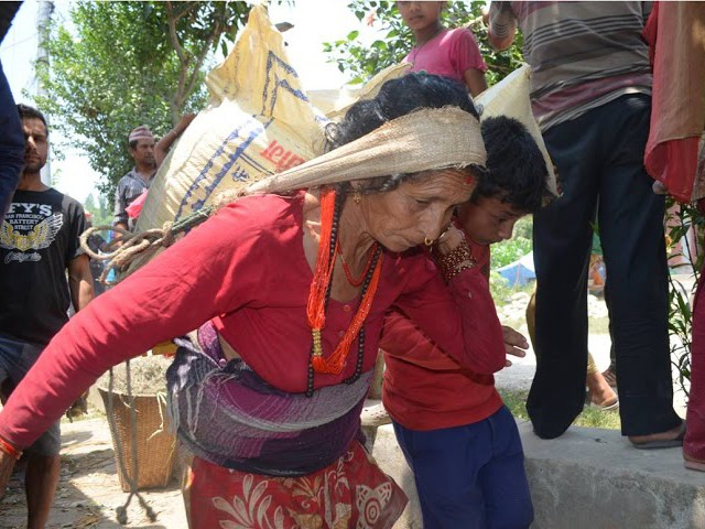 Earthquake Relief in the Dhading Region