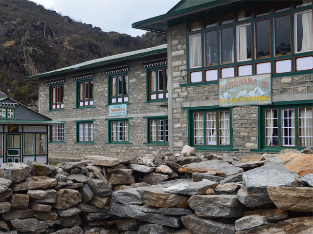 Teahouses in Khumjung following the First Earthquake (Take by David Urmann)