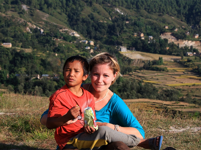 Vlatka on Previous Trip to Nepal