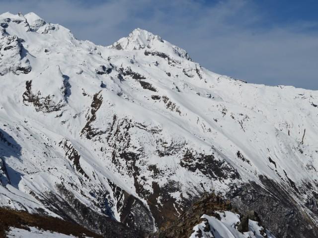 Looking towards the Kimshung Glacier