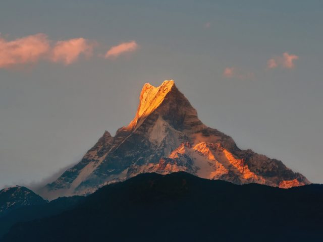 Sunset Over Machapuchare