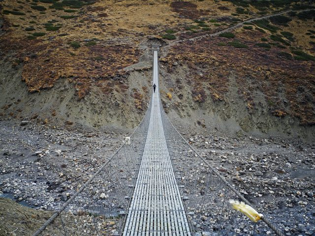 Suspension Bridge Before Thorong La