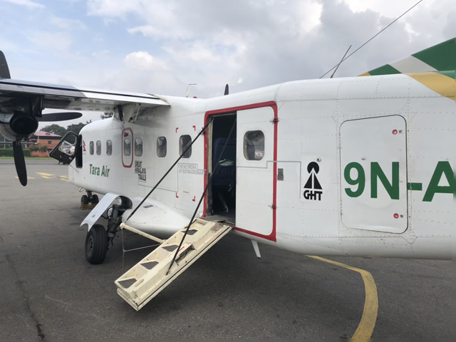 small aircraft used for Lukla flights